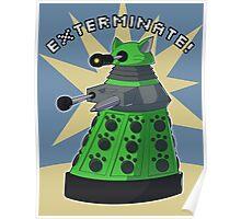 Green Kitty Dalek Poster