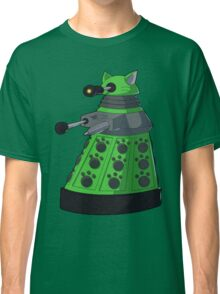 Green Kitty Dalek Classic T-Shirt