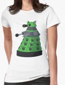 Green Kitty Dalek Womens Fitted T-Shirt
