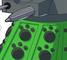 Green Kitty Dalek Sticker