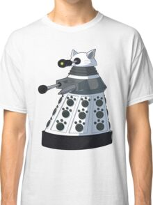 White Kitty Dalek Classic T-Shirt