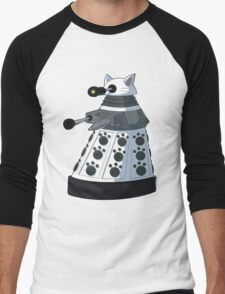 White Kitty Dalek Men's Baseball ¾ T-Shirt