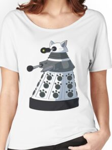 White Kitty Dalek Women's Relaxed Fit T-Shirt