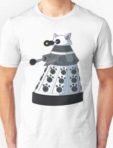 White Kitty Dalek Unisex T-Shirt