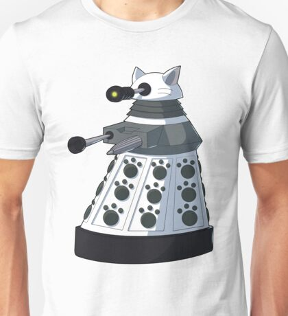 White Kitty Dalek Unisex T-Shirt