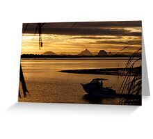 View to the Glass House Mountains - Bribie Island Greeting Card