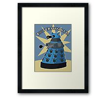 Blue Kitty Dalek Framed Print