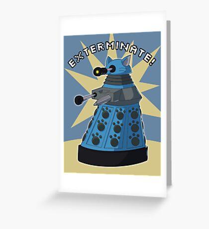 Blue Kitty Dalek Greeting Card