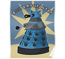 Blue Kitty Dalek Poster