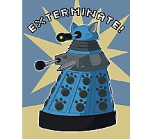 Blue Kitty Dalek Photographic Print