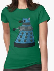 Blue Kitty Dalek Womens Fitted T-Shirt