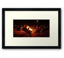 Camp Fire,Australian Outback Framed Print