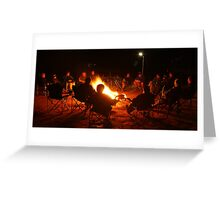 Camp Fire,Australian Outback Greeting Card