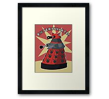 Red Dalek Framed Print