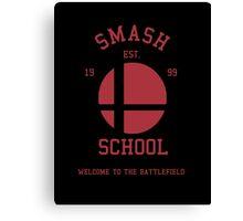 Smash School (Red) Canvas Print