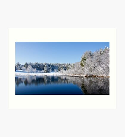 Winter Lake Scene Art Print