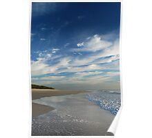 Beach Walk - Bribie Island Poster