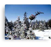 Ho Ho Ho from the Summit of Stinson Mt!   Canvas Print