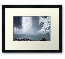 Base of Snoqualmie Falls Framed Print