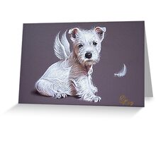 Westie angel Greeting Card