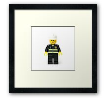 Fireman Minifig Framed Print