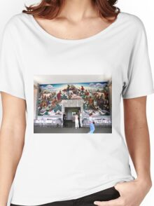Mural, Temple of the Community of Christ, Independence, Missouri USA Women's Relaxed Fit T-Shirt