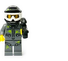 Paintball guy with a paintball gun and mask Minifig by jarodface