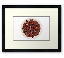Indian Red Hot Peppers Framed Print