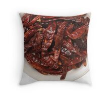Indian Red Hot Peppers Throw Pillow