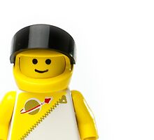 Yellow spaceman with his visor up by jarodface