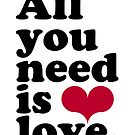 ALL YOU NEED IS LOVE CALENDAR by TheLoveShop