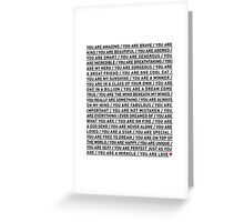 YOU ARE LOVE Greeting Card