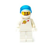 White spaceman with his visor up by jarodface