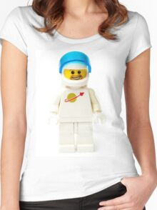 White spaceman with his visor up Women's Fitted Scoop T-Shirt
