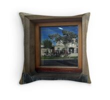 Window with House reflection Throw Pillow