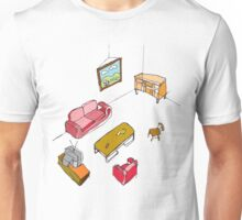 An empty living room  Unisex T-Shirt