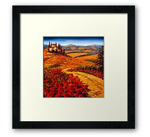 Tuscany Spring Road to the Villa Framed Print