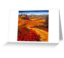 Tuscany Spring Road to the Villa Greeting Card