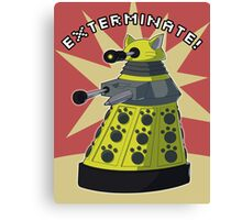 Yellow Kitty Dalek Canvas Print