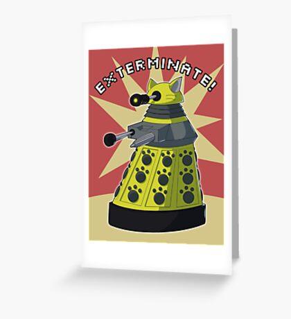 Yellow Kitty Dalek Greeting Card