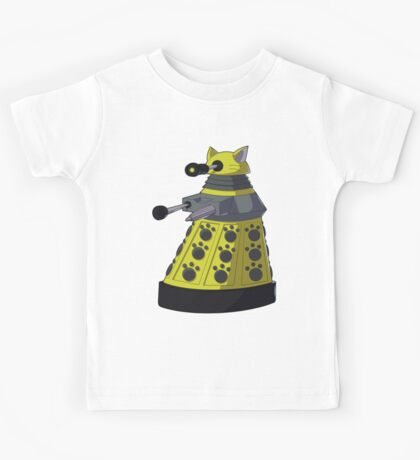 Yellow Kitty Dalek Kids Tee