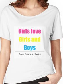 Pansexual pride Girls/Girls/Boys Women's Relaxed Fit T-Shirt