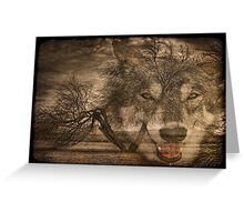 Willow Wolf Greeting Card