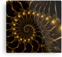 Golden Wire Spirals Metal Print