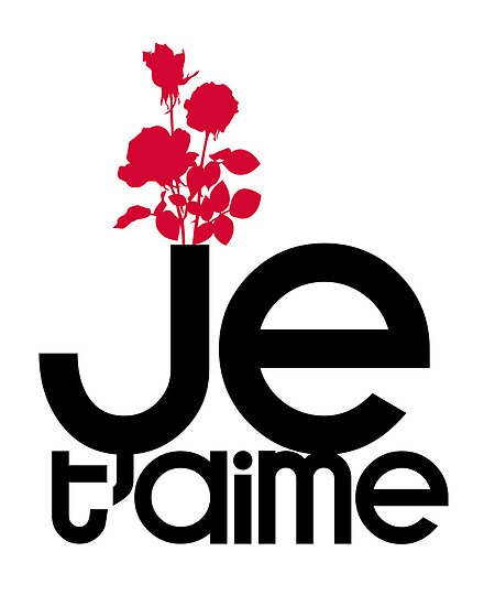 JE T'AIME - I LOVE YOU by TheLoveShop
