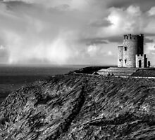 O'Brien's Tower At The Cliffs Of Moher Ireland by Ian Mooney