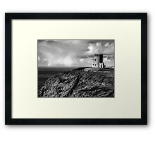 O'Brien's Tower At The Cliffs Of Moher Ireland Framed Print