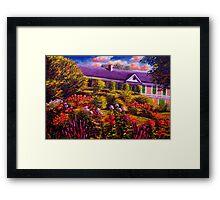 Monet's Garden and House Framed Print