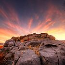 The Rock Wall at sunset by Bob Larson