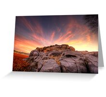 The Rock Wall at sunset Greeting Card